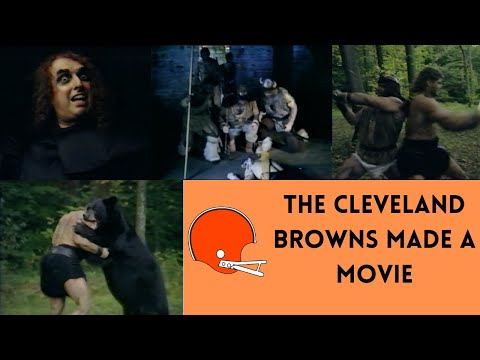 """[OC] [Highlight] In 1986, the Cleveland Browns made a 15-minute action adventure movie, including swordfighting, a music video, a jab at the USFL, and center Mike Baab fighting a bear. It is one of the most bizarre things I have ever seen. This is the story behind """"Masters of the Gridiron"""""""