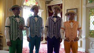 Disney DAPPER DANS Sing Bella Notte from Lady & The Tramp - Tony's Town Square - Magic Kingdom