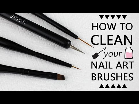 HOW TO CLEAN YOUR NAIL ART BRUSHES | Nailed It NZ Brush Line