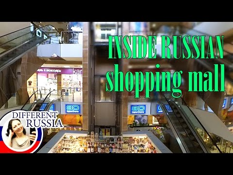 Inside Russian Shopping Mall. Test Of Chinese Gopro Action Camera In Work