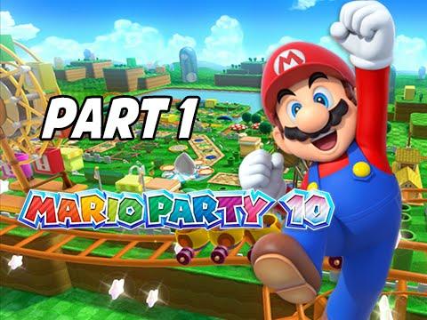 Mario Party 10 Gameplay Walkthrough Part 1 - Mushroom Park (Uncensored w/ Friends Wii U)