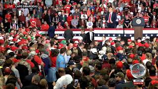 Trump Stops Missouri Rally for 8 Minutes After Woman Faints...Crowd Sings Amazing Grace!