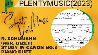 Schumann R. arr. Bizet G.    Canonic Study No 2 arr. piano 4 hands (piano duet)