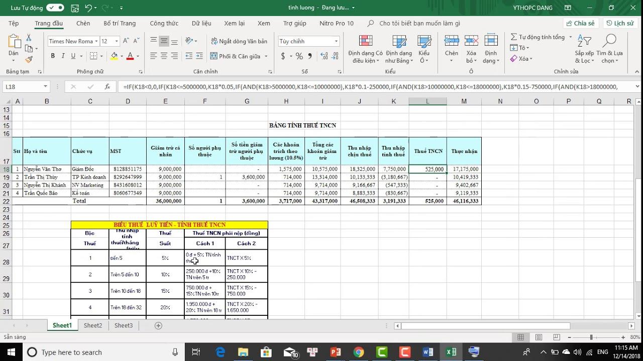 Kế toán tiền lương và các khoản trích theo lương