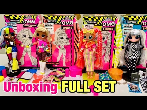 LOL Surprise OMG Lights Dazzle Unbox Fashions New In Box