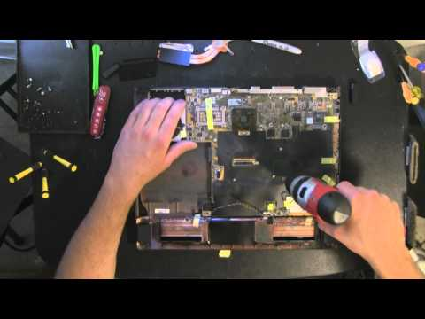 ASUS A6000 take apart video, disassemble, how to open disassembly