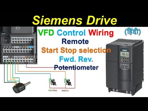 sie micromaster 440 Drive parameter setting | motor parameter | Remote on