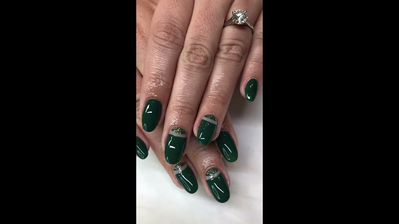 Dark Green Christmas Nails Youtube