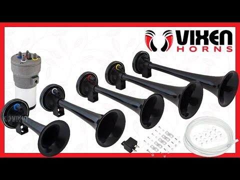 📢 VIXEN HORNS VXH6801B Dixie Musical Air Horn Black 🔥