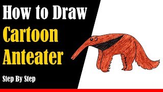 How to Draw a Cartoon Anteater Step by Step - very easy