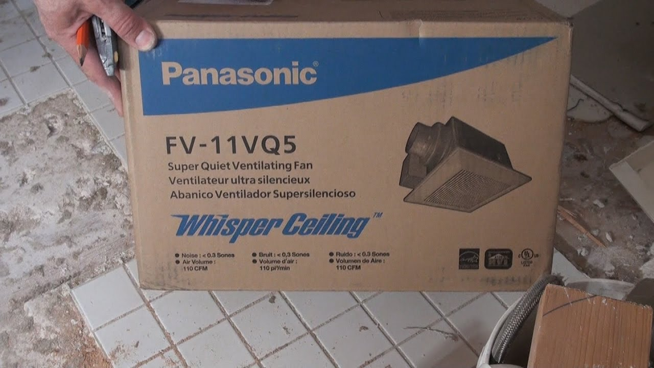 Easy Bath Fan Replacement In 40 Minutes Panasonic Fv 11vq5 Full Wiring With Light And Nightlight Episodes