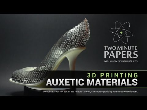 3D Printing Auxetic Materials | Two Minute Papers #96