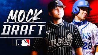 2021 MLB Draft Mock Draft! Jack Leiter & Kumar Rocker FALL?