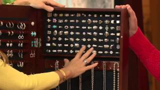 Gold & Silver Safekeeper Jewelry Cabinet W/ Wall Mount By Lori Greiner With Mary Beth Roe