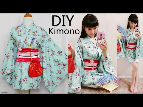 DIY Easy Kimono/Yukata with Easy Pattern | DIY Cosplay Costume | Designed by me