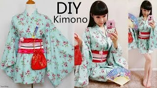 dIY Easy Kimono/Yukata with Easy Pattern  DIY Cosplay Costume  Designed by me