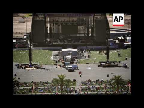 STILLS showing covered bodies after attack in Las Vegas
