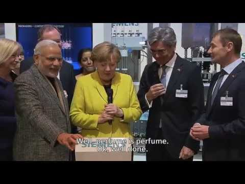 Chancellor Merkel and Prime Minister Modi visit Siemens