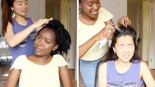 Best Friend Does My Hair Challenge