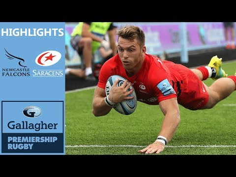 Lewington Bags A Brace On Debut | Newcastle Falcons v Saracens | Gallagher Premiership - Highlights