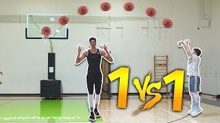 INSANE 1 V 1 BASKETBALL VS 6'10 KRISTOPHER LONDON