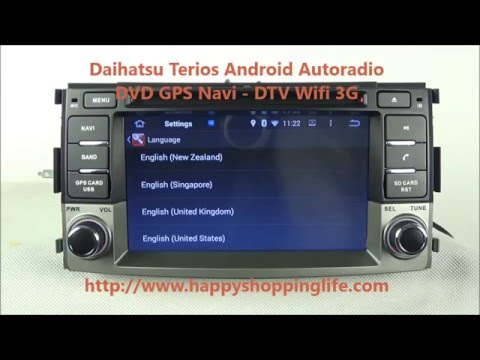 Daihatsu Terios 2006- Android Car Stereo DVD GPS Navigation Radio Wifi 3G