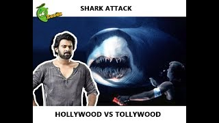 How to Survive a Shark Attack: Hollywood vs Tollywood (Prabhas Worst Action Scene Ever)