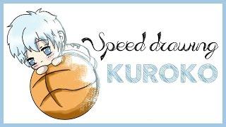 Speed drawing chibi Kuroko no basket - How to draw kuroko tetsuya