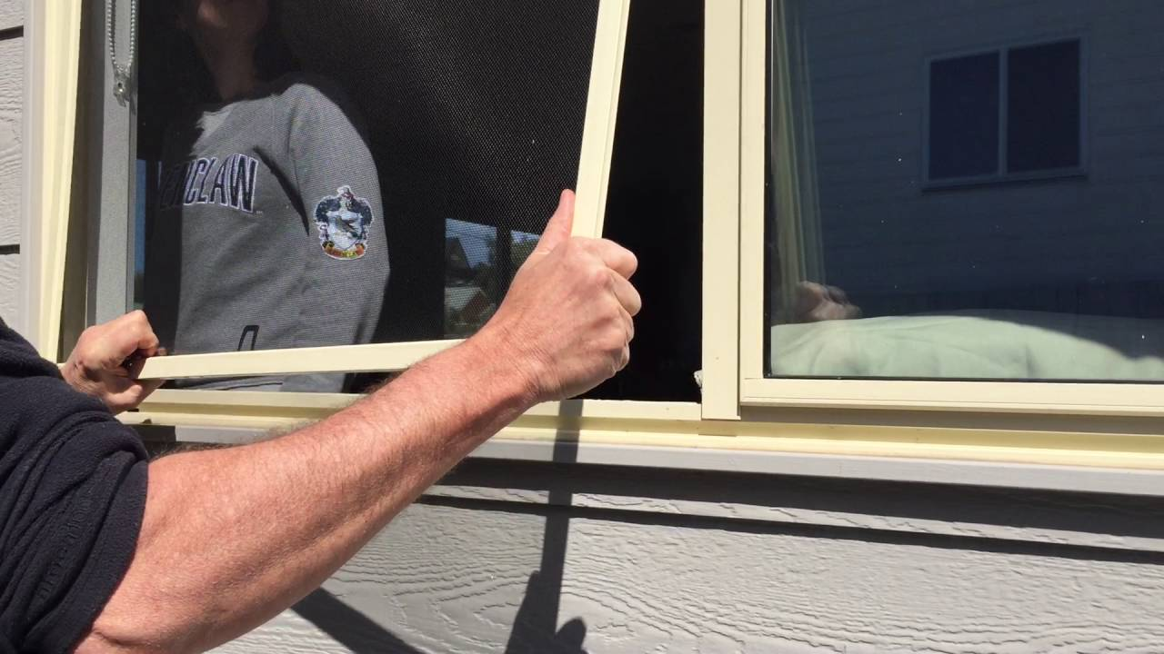 How To Remove And Reinstall Fly Wire Window Screens