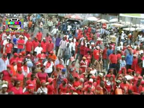 Marche rouge du CST contre l'impunité au Togo - 6 Décembre 2013