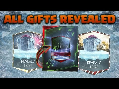 ALL FREEZE GIFTS REVEAL OFFICIAL Melted Gifts  NEW YEAR FIREWORK TOKEN PLANS  FIFA Mobile 17