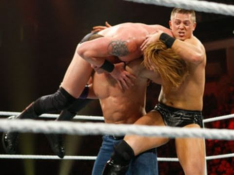 Raw: John Cena & The Miz vs. Heath Slater & Justin Gabriel ...