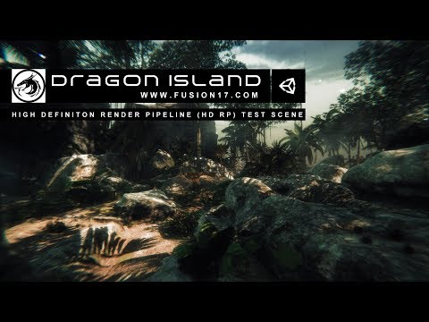 Unity3D - High Definition Render Pipeline (HD RP) - Dragon Island