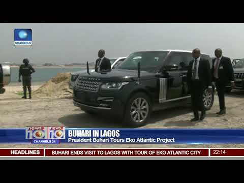 President Buhari In Lagos Tours Eko Atlantic Project