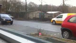 Freak car accident crash awesome nature strikes HD