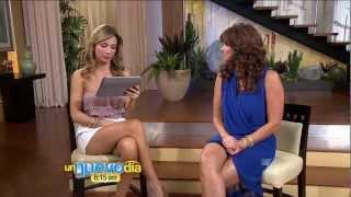 Repeat youtube video Alessandra Villegas 2012/09/28 Un Nuevo Dia HD; Strapless pink top