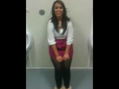 Girl At Urinal