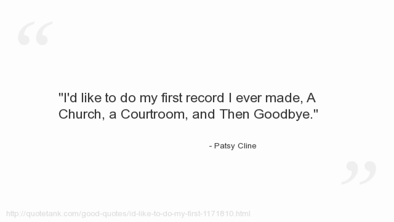 Bessie Smith Quotes Brilliant Patsy Cline Quotes  Youtube
