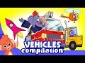 Cars for kids | vehicles cartoon compilation | Car Wash cartoons truck construction videos