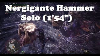MHW - Nergigante Solo with Hammer (1