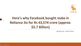 All you need to know about Reliance Jio & Facebook Deal !!
