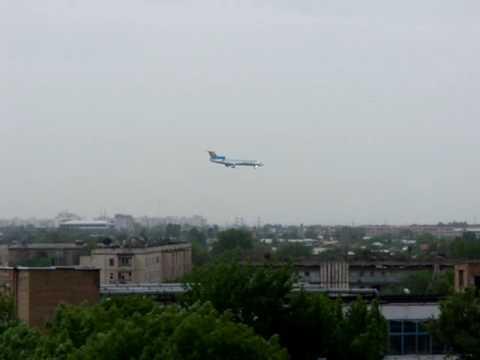 Tupolev Tu-154 lands in Tashkent, Uzbekistan