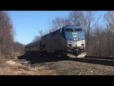 Amtrak, Connecticut Southern, & CT DOT in Windsor, CT on March 19th, 2018