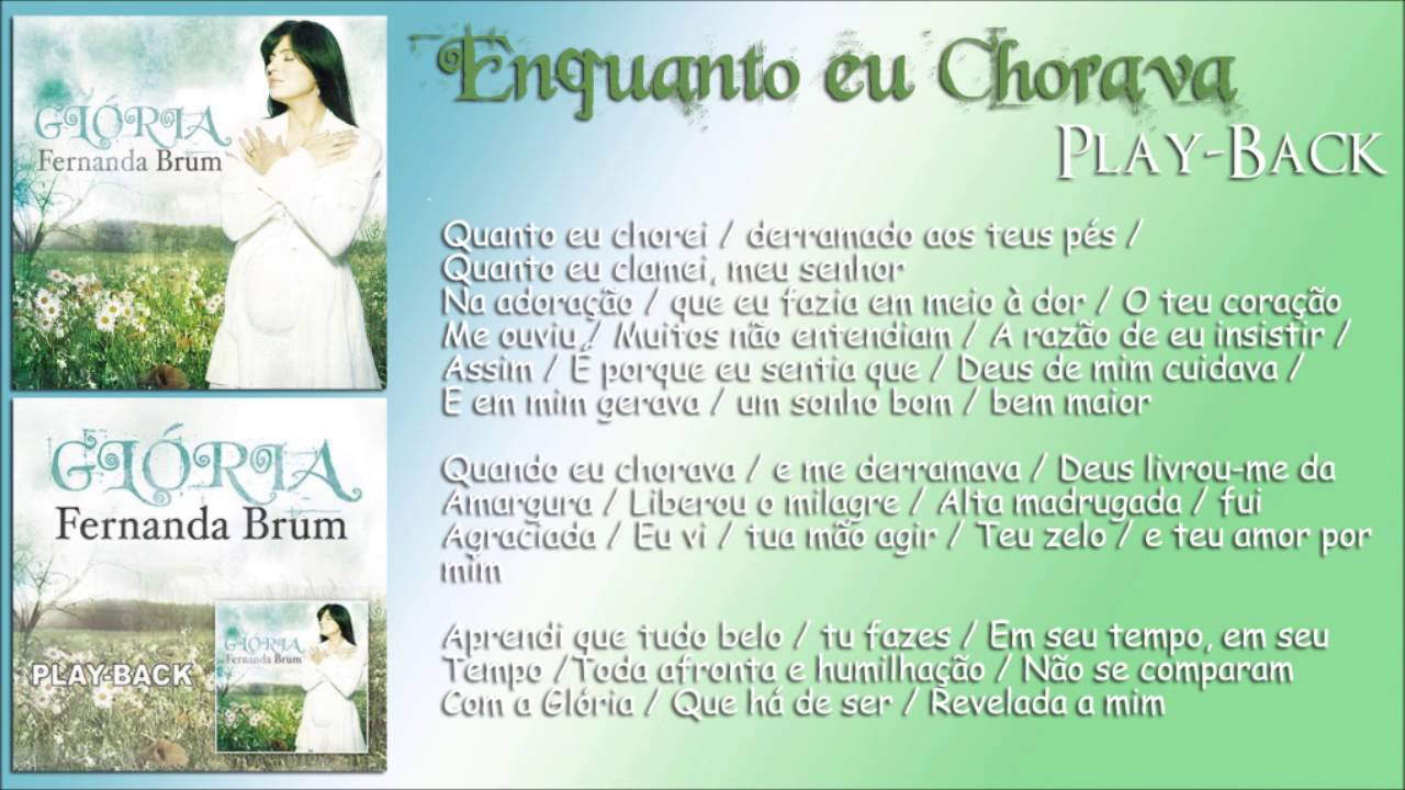 cd fernanda brum gloria play back gratis