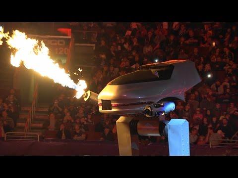 Monster Jam Philadelphia 2015 ROBOT BATTLE Galactron vs Reptar