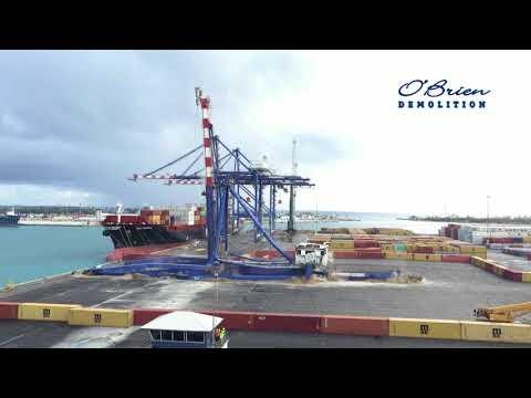 Freeport Bahamas - STS Crane Demolition