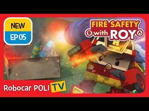 🔥fire-safety-with-roy-|-ep05-|-enjoy-fireworks-safely-|-robocar-poli-|-kids-animation