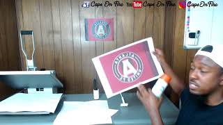 How To Sublimate Car Flag ep 06