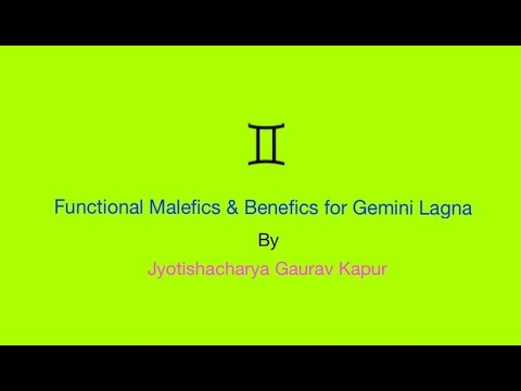 Gemini Lagna Benefic and Malefic Planet