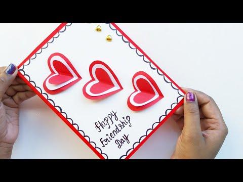 Beautiful Handmade Friendship Day Card idea/DIY Greeting cards for Friendship/Gift idea for friends